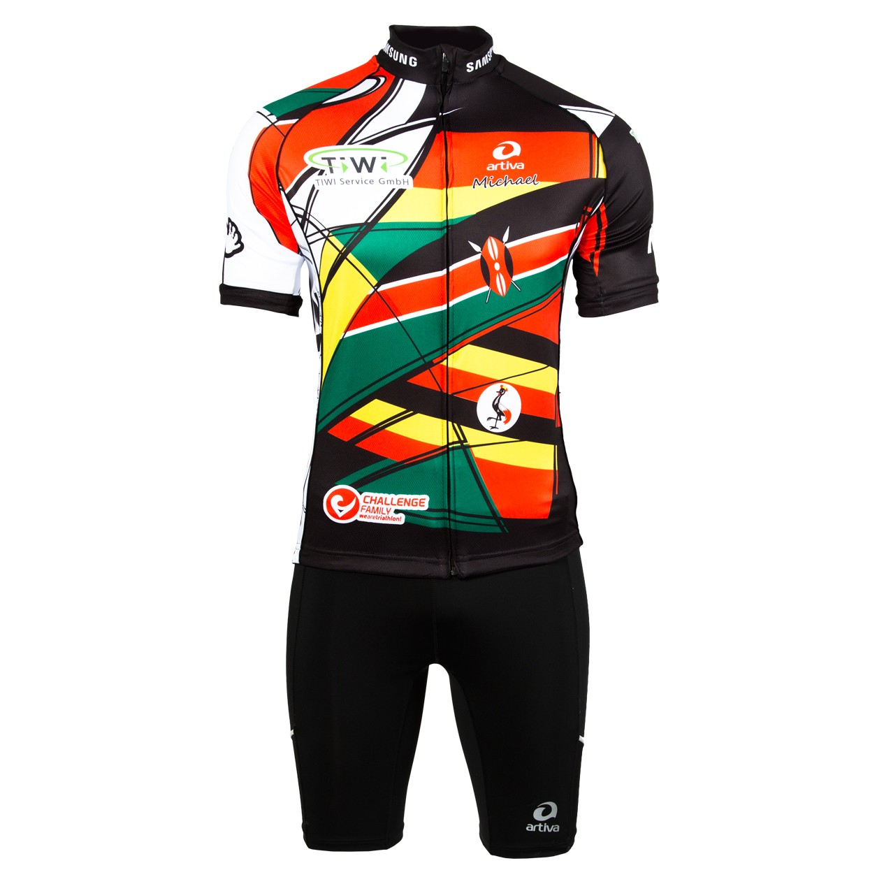 Radtrikot 3 Nationen (Customized Cycling)