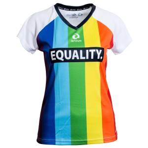 Regenbogen-Funktions-Shirt für Frauen