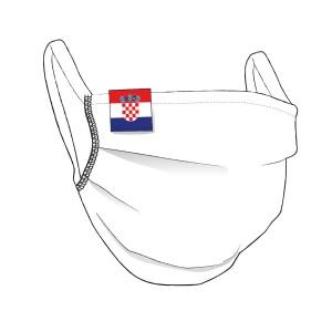 BW-Maske mit KROATIEN Flaglabel - unisex