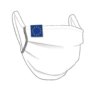 BW-Maske mit EUROPA Flaglabel - unisex