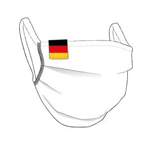 BW-Maske mit DEUTSCHLAND Flaglabel - unisex