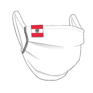 BW-Maske mit Österreich Flaglabel - unisex