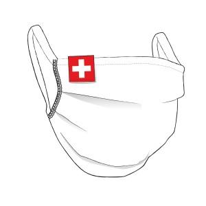 BW-Maske mit SCHWEIZ Flaglabel - unisex