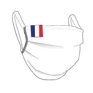 BW-Maske mit FRANKREICH Flaglabel - unisex