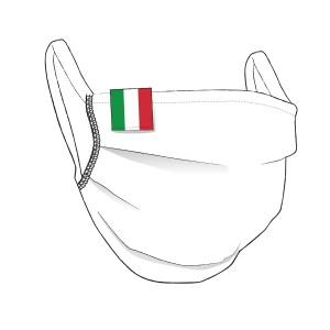 BW-Maske mit ITALIEN Flaglabel - unisex