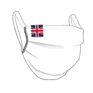 BW-Maske mit UK Flaglabel - unisex