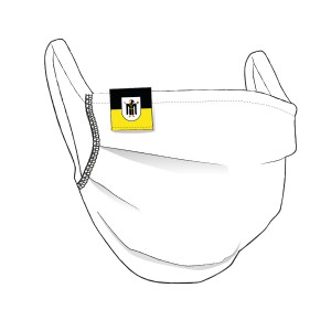 BW-Maske mit MÜNCHEN Flaglabel - unisex