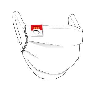 Premium Maske mit KÖLN Flaglabel - unisex