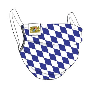 BAYERN Premium-Maske + Flaglabel