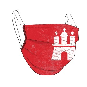 HAMBURG-Maske rot - unisex