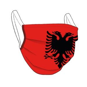 ALBANIEN-Maske rot - unisex