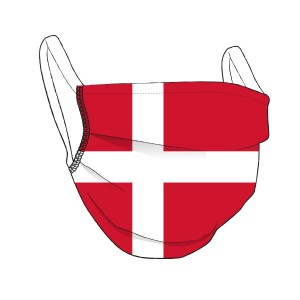 DÄNEMARK-Maske rot - unisex