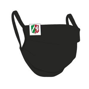 BW-Maske schwarz, NRW Flaglabel - unisex