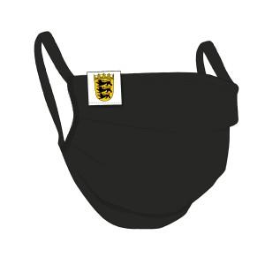 BW-Maske schwarz, Baden Württemberg Flaglabel - unisex
