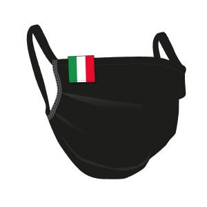 BW-Maske schwarz, ITALIA-Flaglabel - unisex