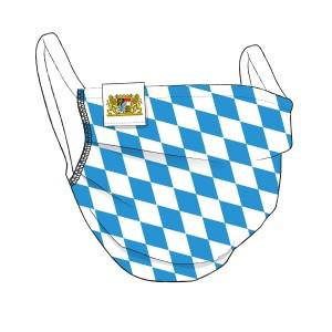 BAYERN Maske + Flaglabel - himmelblau