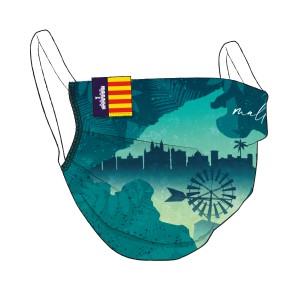 Mallorca Motiv-Maske mit Flaglabel