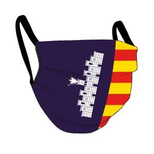 Mallorca Maske - vollflächige Fahne