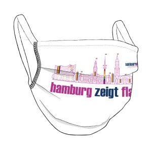 HAMBURG ZEIGT FLAGGE Maske, UNISEX