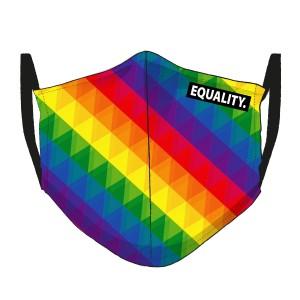 LGBT-Regenbogen Maske - gekachelt