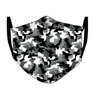 Dreiecks-Maske Camouflage schwarz-weiss