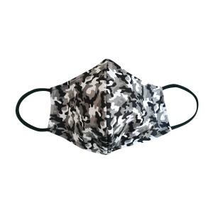 Dreiecks-Maske FRAU Camouflage schwarz-weiss