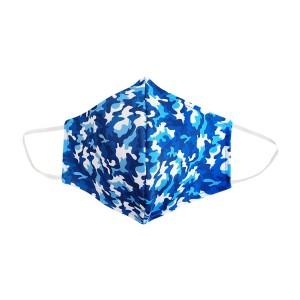 Dreiecks-Maske MANN Camouflage blau-weiss
