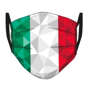 Corona Maske Italien-Flagge in Mosaik-Design
