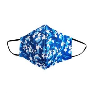Dreiecks-Maske FRAU Camouflage blau-weiss