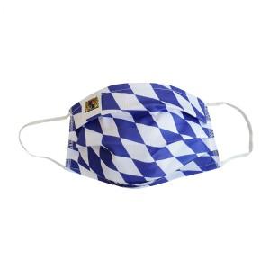 BAYERN Maske - KINDER weiss-dunkelblau