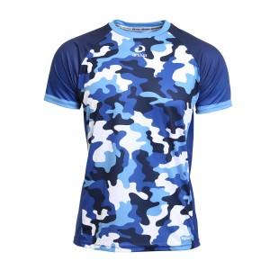 Laufshirt - Camouflage blau, Männer