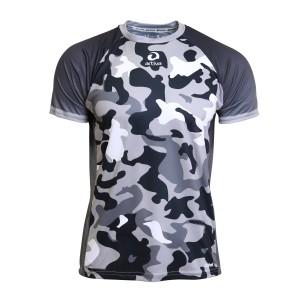 Laufshirt - Camouflage schwarz, Männer