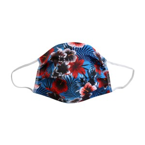 Maske HAWAII-SOMMER, blau Kinder
