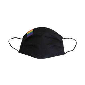 Regenbogen Baumwoll-Maske, schwarz