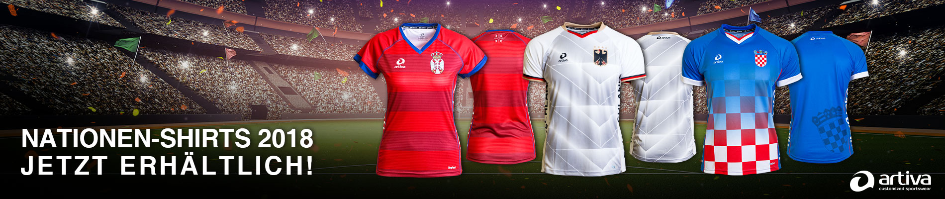 Nationenshirts - artiva customized sportswear