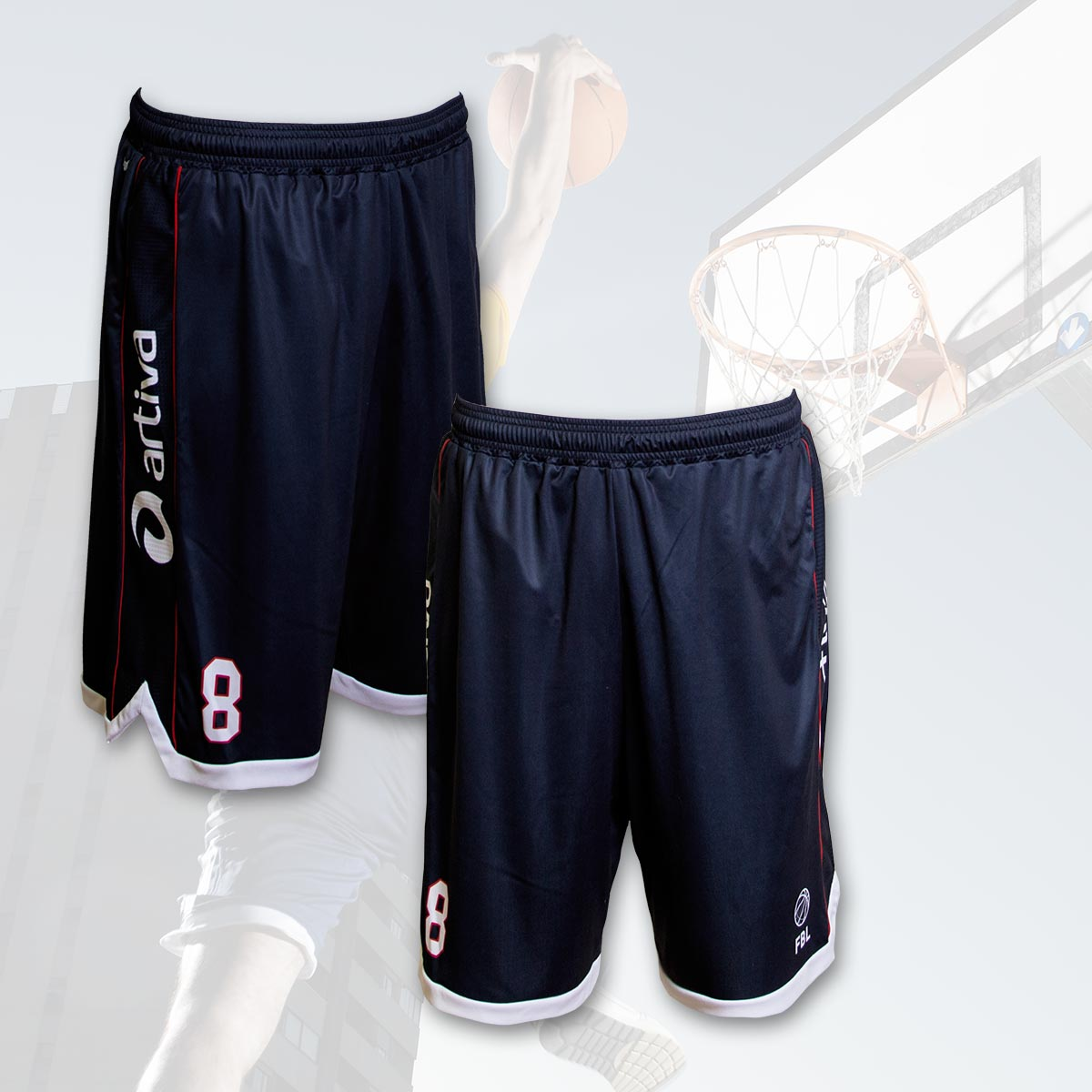 Custom basketball shorts