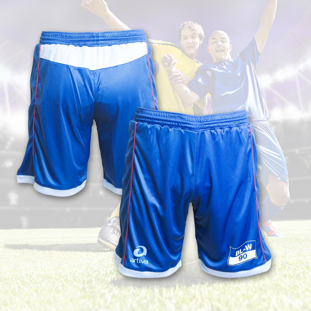 Individuelle Fußball-Shorts
