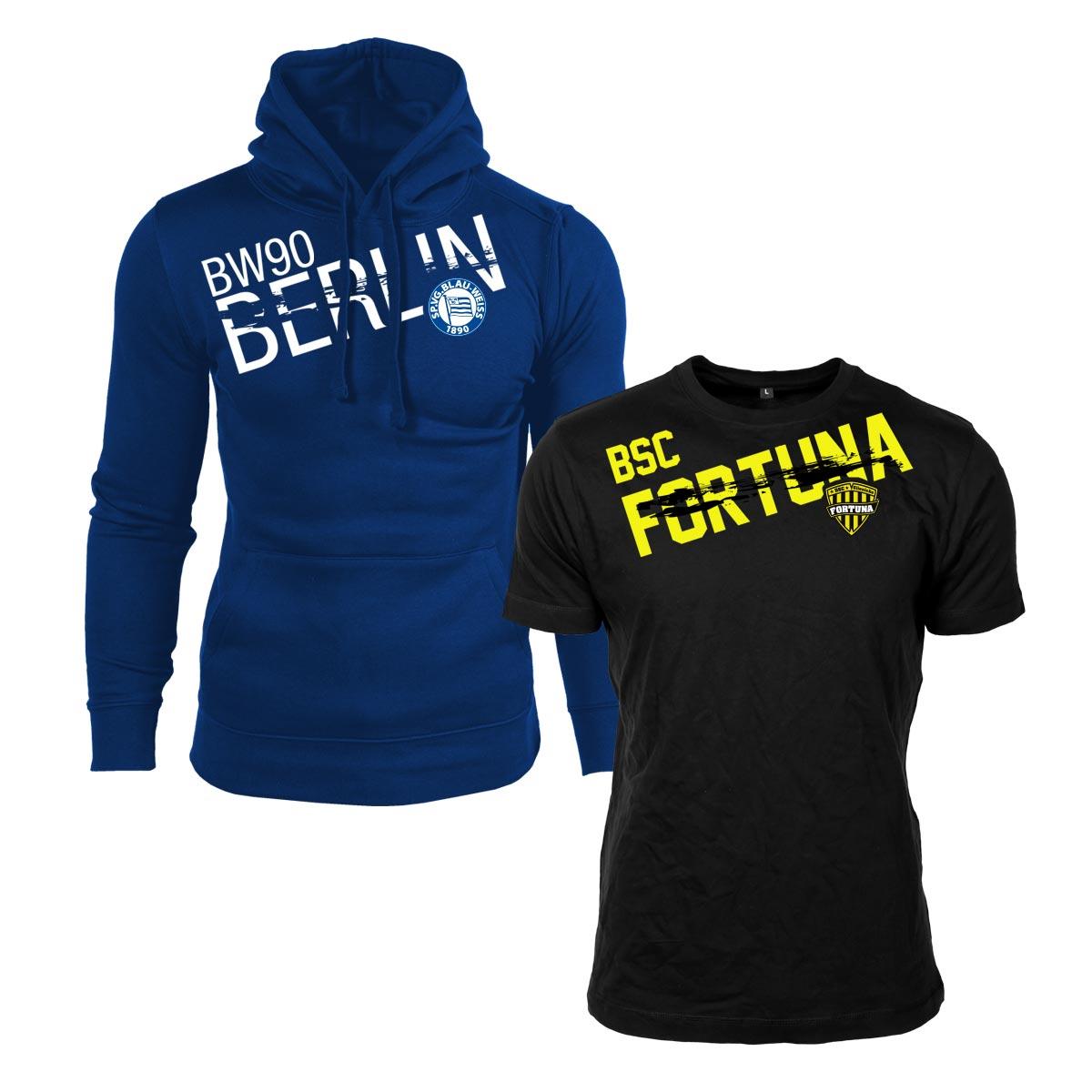 Baumwoll-Hoodie und T-Shirts